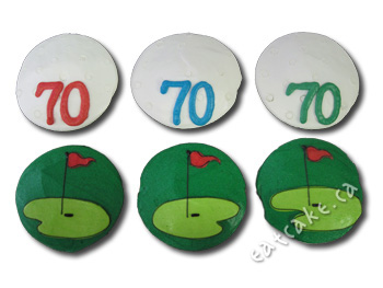 golf balls and greens