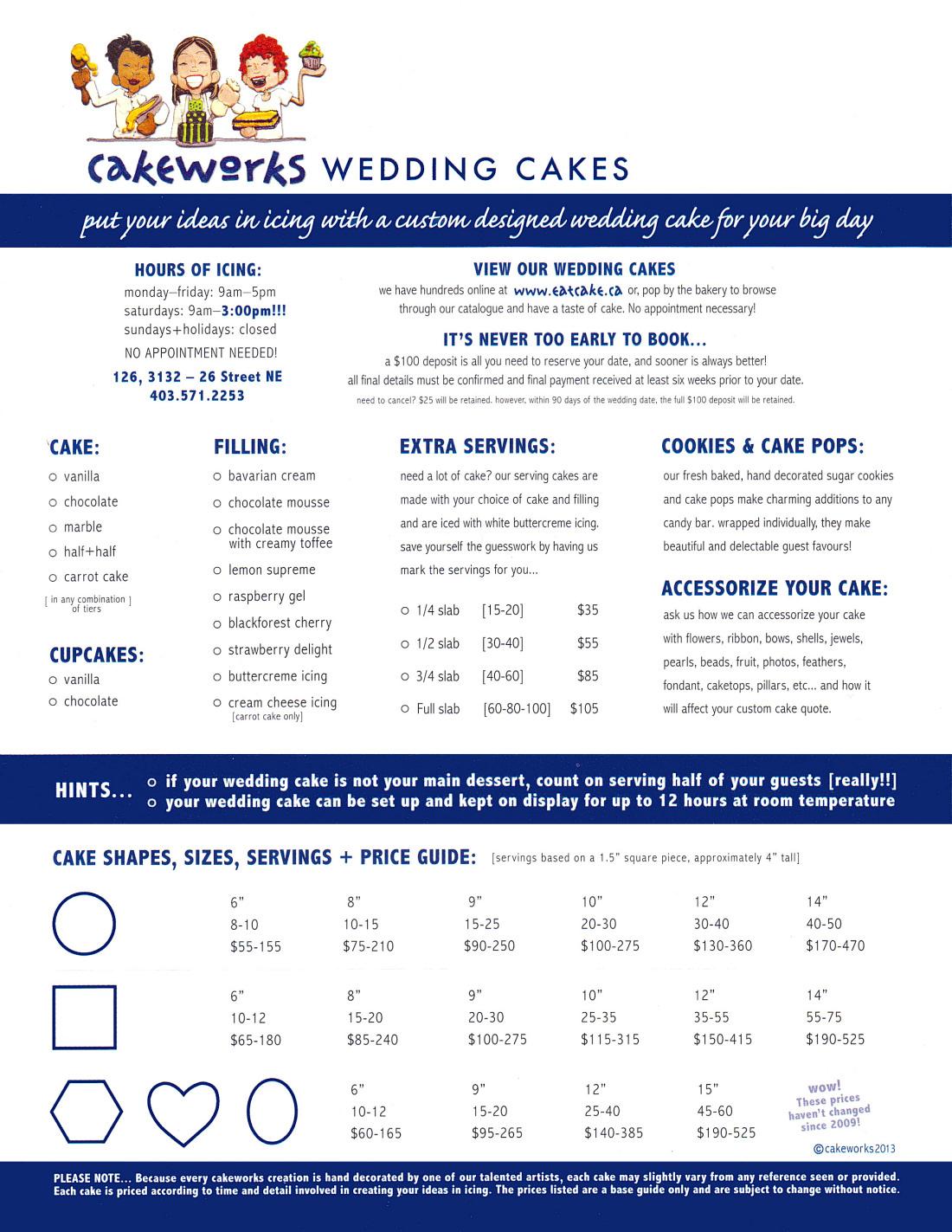cakeworks inc wedding cake questions faq calgary ab. Black Bedroom Furniture Sets. Home Design Ideas